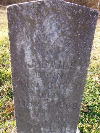 BAILEY, T J - Hickman County, Tennessee | T J BAILEY - Tennessee Gravestone Photos