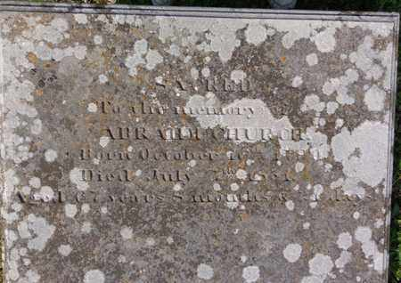 CHURCH, ABRAHAM - Hickman County, Tennessee | ABRAHAM CHURCH - Tennessee Gravestone Photos
