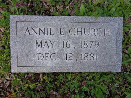 CHURCH, ANNIE E - Hickman County, Tennessee | ANNIE E CHURCH - Tennessee Gravestone Photos