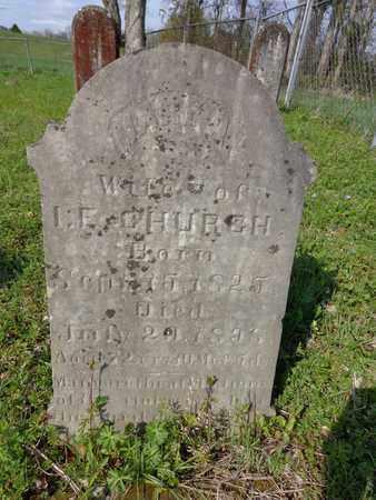 CHURCH, MARY A. - Hickman County, Tennessee | MARY A. CHURCH - Tennessee Gravestone Photos