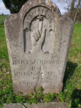 CHURCH, MARY JONES - Hickman County, Tennessee | MARY JONES CHURCH - Tennessee Gravestone Photos