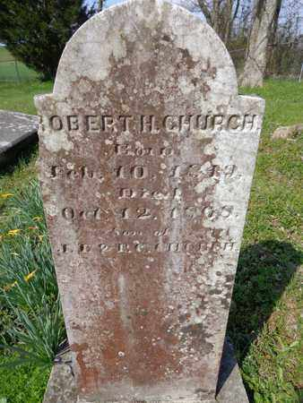 CHURCH, ROBERT H. - Hickman County, Tennessee | ROBERT H. CHURCH - Tennessee Gravestone Photos