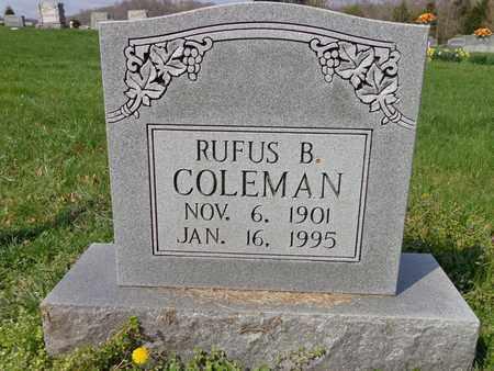 COLEMAN, RUFUS B - Hickman County, Tennessee | RUFUS B COLEMAN - Tennessee Gravestone Photos