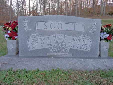 SCOTT, WALTER B - Hickman County, Tennessee | WALTER B SCOTT - Tennessee Gravestone Photos