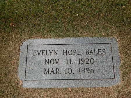 BALES, EVELYN HOPE - Jefferson County, Tennessee | EVELYN HOPE BALES - Tennessee Gravestone Photos