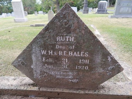 BALES, RUTH - Jefferson County, Tennessee | RUTH BALES - Tennessee Gravestone Photos