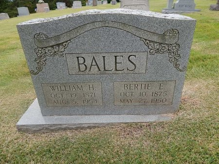 BALES, WILLIAM H - Jefferson County, Tennessee | WILLIAM H BALES - Tennessee Gravestone Photos
