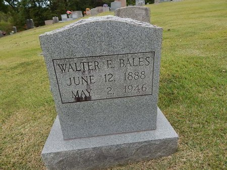 BALES, WALTER E - Jefferson County, Tennessee | WALTER E BALES - Tennessee Gravestone Photos