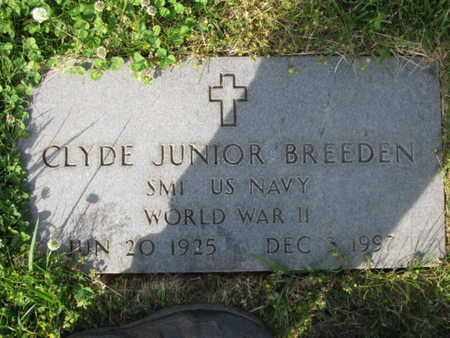 BREEDEN  (VETERAN WWII), CYDE JUNIOR - Jefferson County, Tennessee | CYDE JUNIOR BREEDEN  (VETERAN WWII) - Tennessee Gravestone Photos