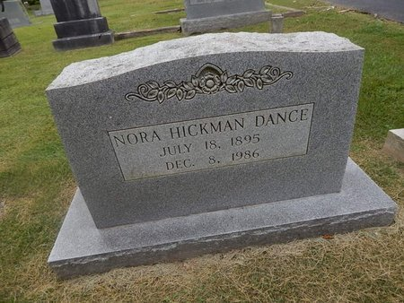 HICKMAN DANCE, NORA - Jefferson County, Tennessee | NORA HICKMAN DANCE - Tennessee Gravestone Photos