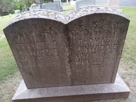 DINWIDDIE, THOMAS J - Jefferson County, Tennessee | THOMAS J DINWIDDIE - Tennessee Gravestone Photos