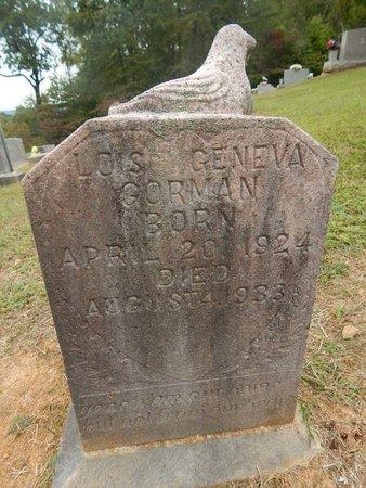 GORMAN, LOIS GENEVA - Jefferson County, Tennessee   LOIS GENEVA GORMAN - Tennessee Gravestone Photos