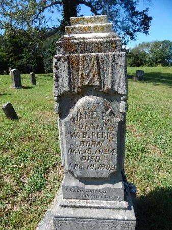 PECK, JANE E - Jefferson County, Tennessee   JANE E PECK - Tennessee Gravestone Photos