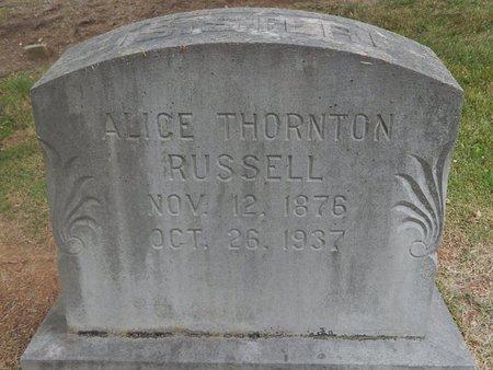 THORNTON RUSSELL, ALICE - Jefferson County, Tennessee   ALICE THORNTON RUSSELL - Tennessee Gravestone Photos