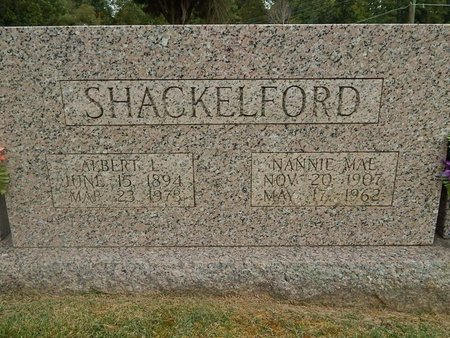 SHACKELFORD, NANNIE MAE - Jefferson County, Tennessee | NANNIE MAE SHACKELFORD - Tennessee Gravestone Photos