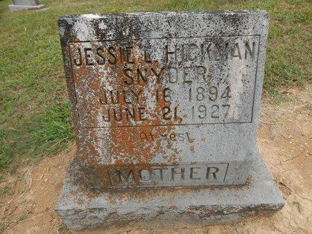 HICKMAN SNYDER, JESSIE L - Jefferson County, Tennessee   JESSIE L HICKMAN SNYDER - Tennessee Gravestone Photos