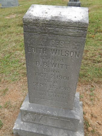 WILSON WITT, EDITH - Jefferson County, Tennessee | EDITH WILSON WITT - Tennessee Gravestone Photos