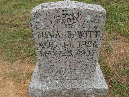 WITT, NINA B - Jefferson County, Tennessee | NINA B WITT - Tennessee Gravestone Photos