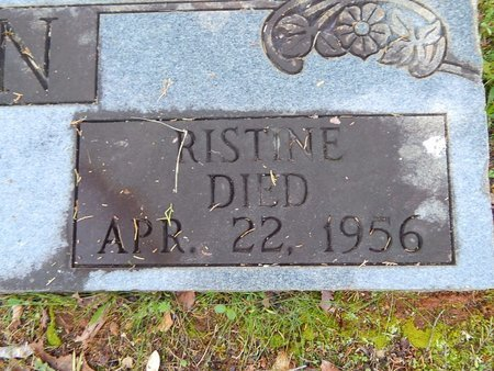 ALLEN, RISTINE (CLOSE-UP) - Knox County, Tennessee   RISTINE (CLOSE-UP) ALLEN - Tennessee Gravestone Photos