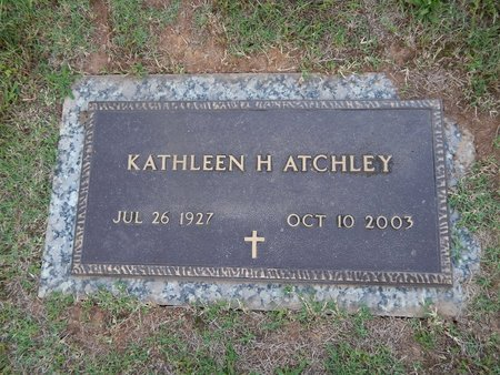 ATCHLEY, KATHLEEN H - Knox County, Tennessee | KATHLEEN H ATCHLEY - Tennessee Gravestone Photos