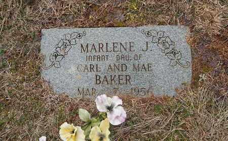 BAKER, MARLENE J - Knox County, Tennessee   MARLENE J BAKER - Tennessee Gravestone Photos