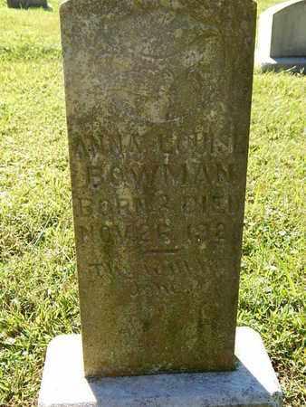 BOWMAN, ANNA LOUISE - Knox County, Tennessee | ANNA LOUISE BOWMAN - Tennessee Gravestone Photos