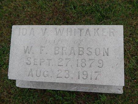 WHITAKER BRABSON, IDA V - Knox County, Tennessee   IDA V WHITAKER BRABSON - Tennessee Gravestone Photos