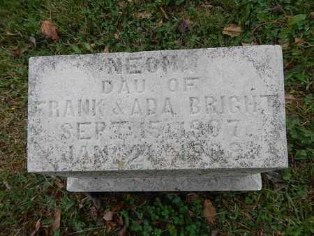 BRIGHT, NEOMA - Knox County, Tennessee | NEOMA BRIGHT - Tennessee Gravestone Photos