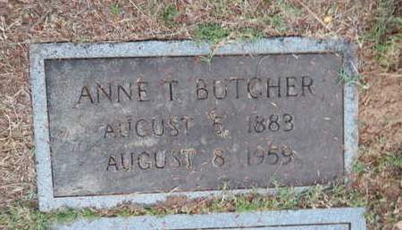 BUTCHER, ANNE T - Knox County, Tennessee | ANNE T BUTCHER - Tennessee Gravestone Photos