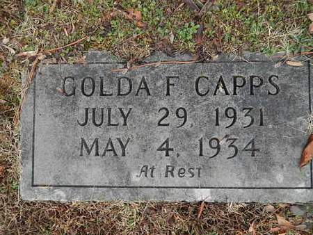 CAPPS, GOLDA F - Knox County, Tennessee | GOLDA F CAPPS - Tennessee Gravestone Photos
