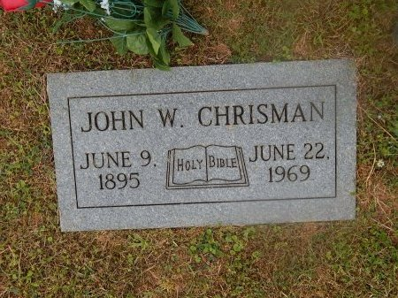 CHRISMAN, JOHN W - Knox County, Tennessee | JOHN W CHRISMAN - Tennessee Gravestone Photos