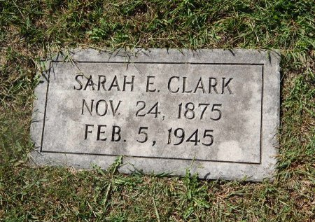 CLARK, SARAH E - Knox County, Tennessee | SARAH E CLARK - Tennessee Gravestone Photos