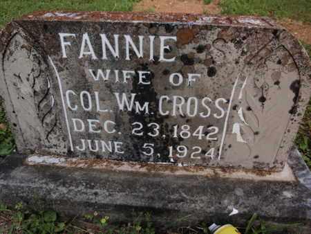 CROSS, FANNIE - Knox County, Tennessee | FANNIE CROSS - Tennessee Gravestone Photos