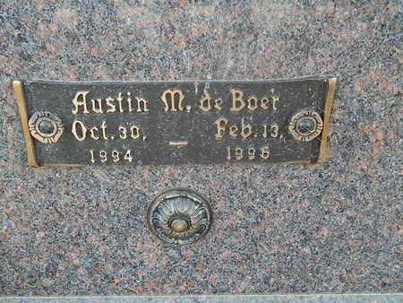 DE BOER, AUSTIN M (CLOSE-UP) - Knox County, Tennessee | AUSTIN M (CLOSE-UP) DE BOER - Tennessee Gravestone Photos