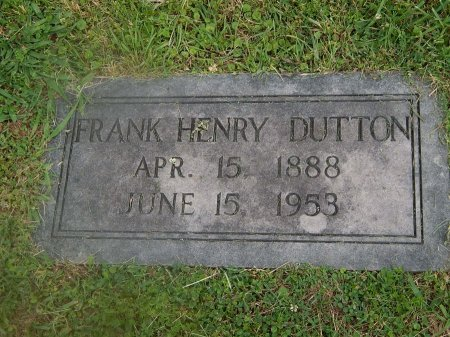 DUTTON, FRANK HENRY - Knox County, Tennessee | FRANK HENRY DUTTON - Tennessee Gravestone Photos