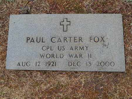 FOX  (VETERAN WWII), PAUL CARTER - Knox County, Tennessee | PAUL CARTER FOX  (VETERAN WWII) - Tennessee Gravestone Photos