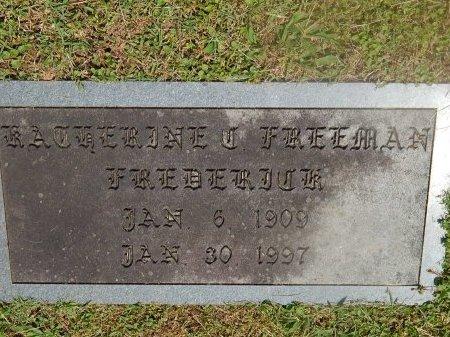 FREEMAN FREDERICK, KATHERINE - Knox County, Tennessee | KATHERINE FREEMAN FREDERICK - Tennessee Gravestone Photos