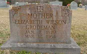 WILSON GRODEMAN, ELIZABETH - Knox County, Tennessee   ELIZABETH WILSON GRODEMAN - Tennessee Gravestone Photos