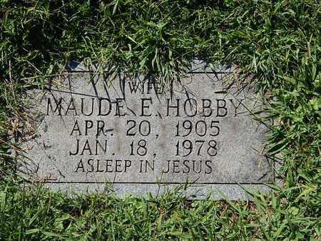 HOBBY, MAUDE E - Knox County, Tennessee | MAUDE E HOBBY - Tennessee Gravestone Photos
