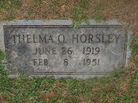 HORSLEY, THELMA O - Knox County, Tennessee | THELMA O HORSLEY - Tennessee Gravestone Photos