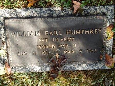 HUMPHREY (VETERAN WWII), WILLIAM EARL - Knox County, Tennessee | WILLIAM EARL HUMPHREY (VETERAN WWII) - Tennessee Gravestone Photos