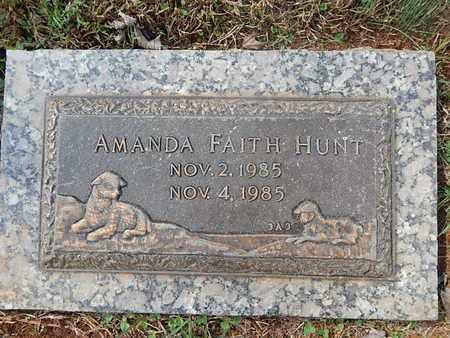 HUNT, AMANDA FAITH - Knox County, Tennessee | AMANDA FAITH HUNT - Tennessee Gravestone Photos