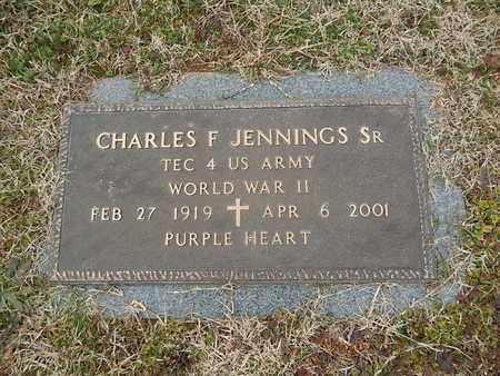 JENNINGS  (VETERAN WWII), CHARLES F SR - Knox County, Tennessee   CHARLES F SR JENNINGS  (VETERAN WWII) - Tennessee Gravestone Photos