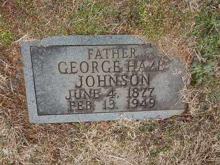 JOHNSON, GEORGE HAZE - Knox County, Tennessee   GEORGE HAZE JOHNSON - Tennessee Gravestone Photos