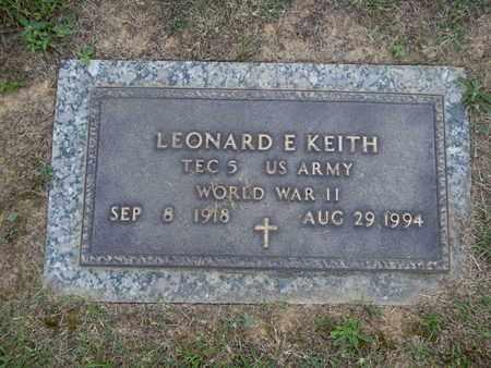 KEITH  (VETERAN WWII), LEONARD E - Knox County, Tennessee | LEONARD E KEITH  (VETERAN WWII) - Tennessee Gravestone Photos