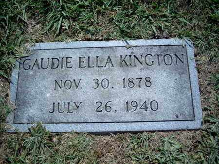 KINGTON, GAUDIE ELLA - Knox County, Tennessee | GAUDIE ELLA KINGTON - Tennessee Gravestone Photos