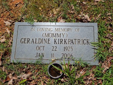 KIRKPATRICK, GERALDINE - Knox County, Tennessee   GERALDINE KIRKPATRICK - Tennessee Gravestone Photos