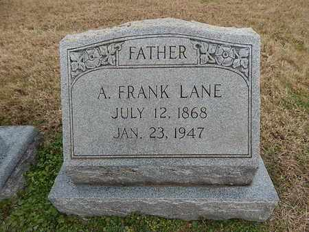 LANE, A FRANK - Knox County, Tennessee   A FRANK LANE - Tennessee Gravestone Photos