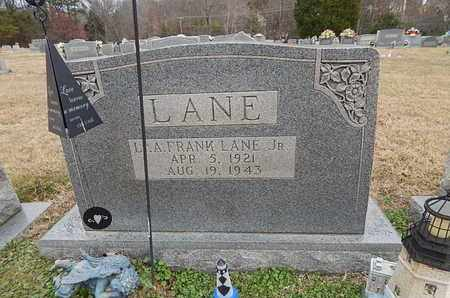 LANE  (VETERAN), A FRANK  JR - Knox County, Tennessee | A FRANK  JR LANE  (VETERAN) - Tennessee Gravestone Photos