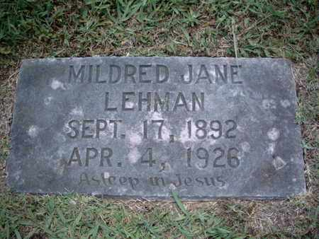 LEHMAN, MILDRED JANE - Knox County, Tennessee | MILDRED JANE LEHMAN - Tennessee Gravestone Photos